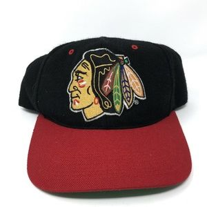 Vintage Chicago Blackhawks Snapback Hat Grossman